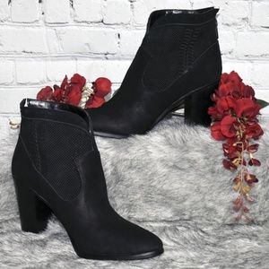 Perforated Suede Ankle Boots - Fretzia (Sz 11M)